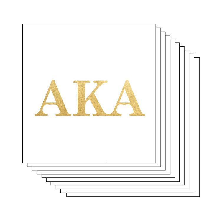 Alpha Kappa Alpha Letters (10 Pack) Gold