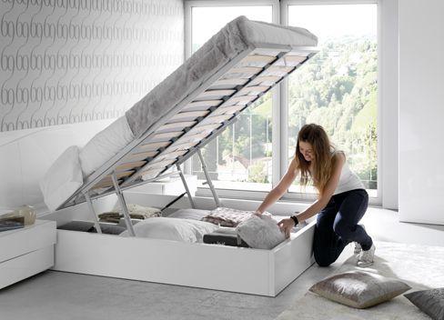 Kibuc muebles y complementos dormitorio slaap cama - Base cama almacenaje ...