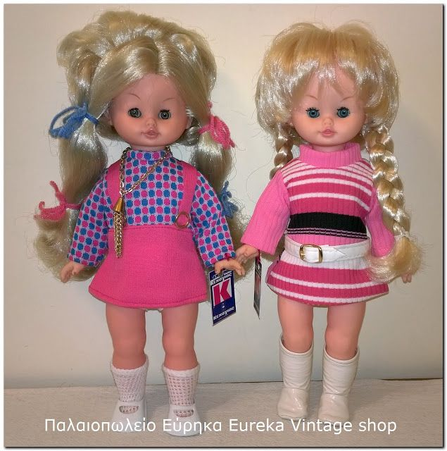 Two of the most famous dolls from Ioannis Kehagias doll company from Greece, Fani from 1971 and Rosalie from 1960's. See the photos for details. They are in excellent vintage condition.