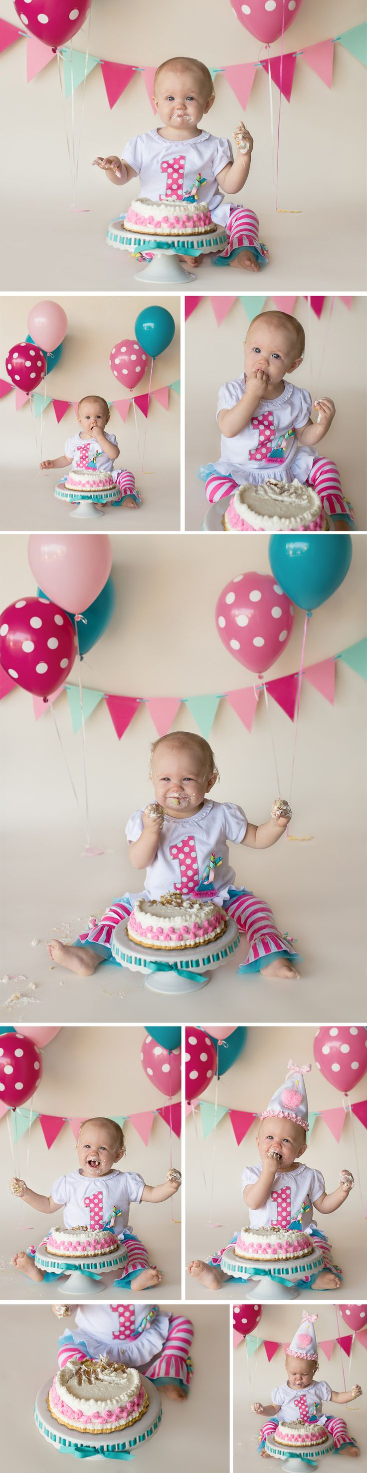 Tampa Family Photographer Sherri Kelly - Baby Girl First Birthday Cake Smash Photo Session
