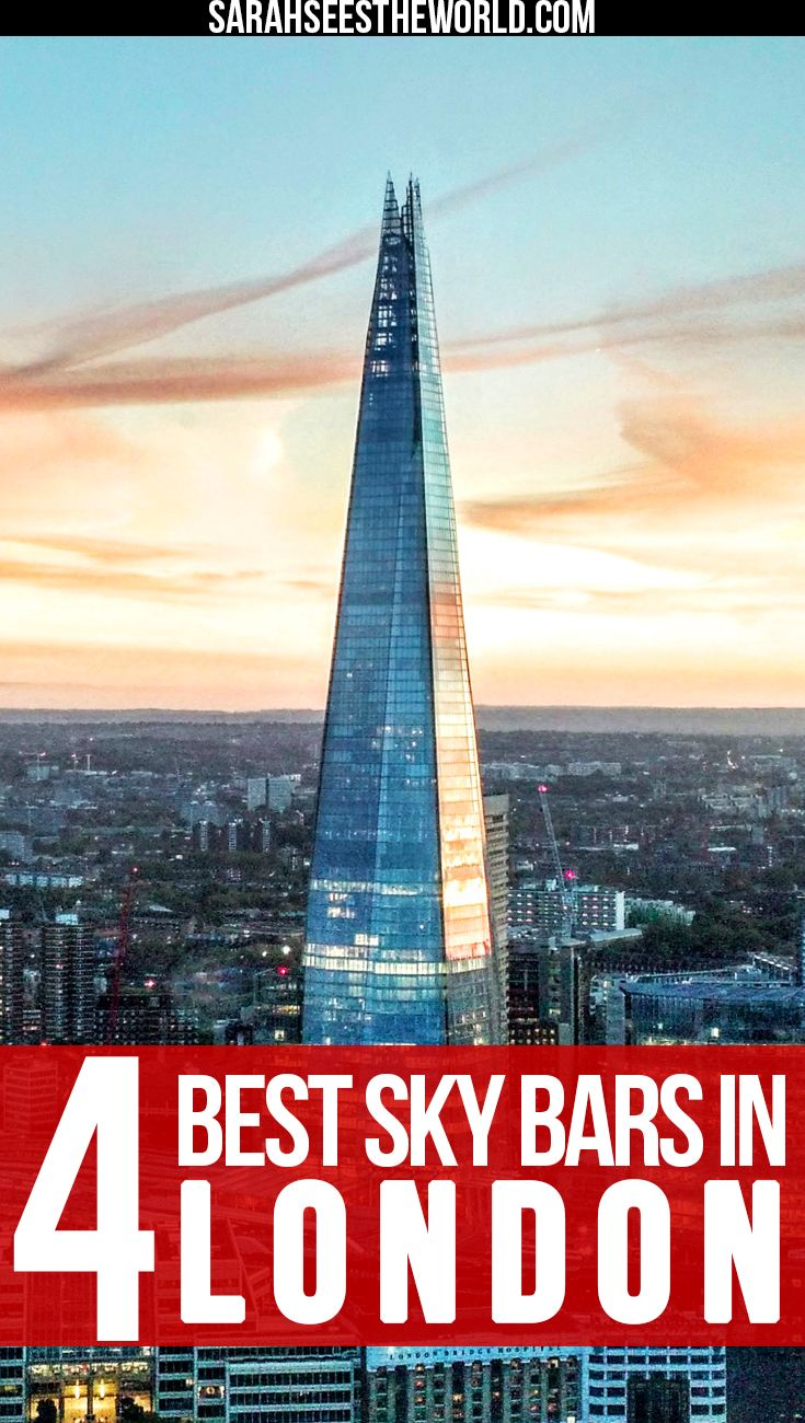 When you're in London, how could you not want to soak in all the incredible views? Check out my favourite sky bars to visit in London. You won't be disappointed! Save this to your travel board.