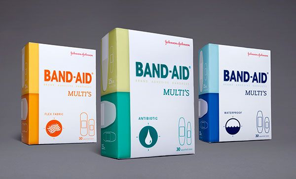Band-Aid Multi's concept packaging.