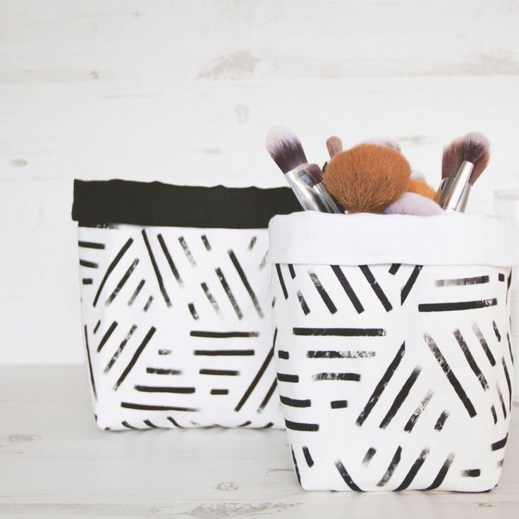 Buy Home Accessories Part - 46: Geometric Stripes Storage Basket, Modern Makeup Organizer Gift For  Bestfriend. Storage BasketsBuy And SellHome AccessoriesAll ...