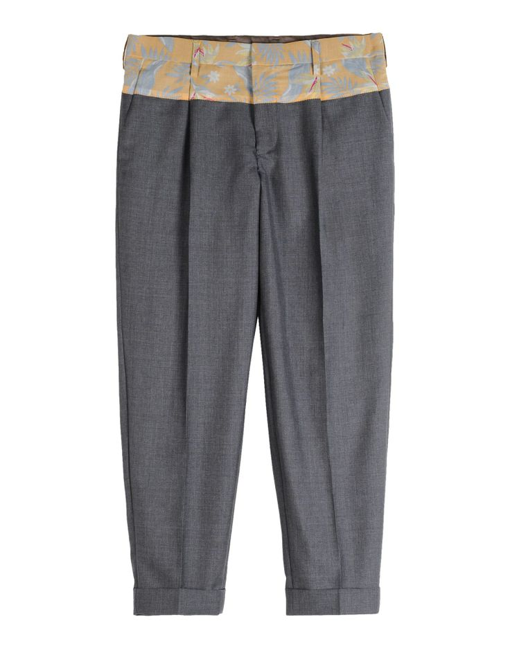 Trousers by KOLOR #coolwool #gray #pattern #print #classic #casual #runway #menswear