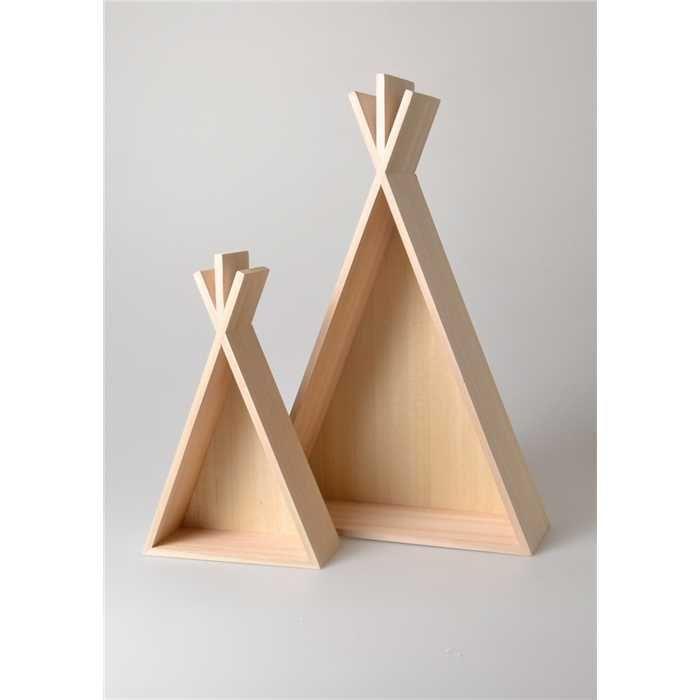 2 Etageres Tipi En Bois With Images Decor Home Decor Shelves