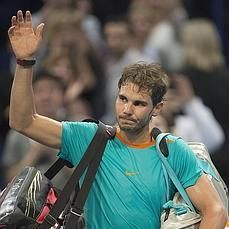 10/24/14 Rafa falls to teenager Coria in QFs of Swiss Indoors then confirms he will call an end to his season: Nine-time French Open Champion Rafael Nadal exits Basel early and pulls out of his next tournament in Paris and London due to an impending appendicitis surgery. #FeelBetter