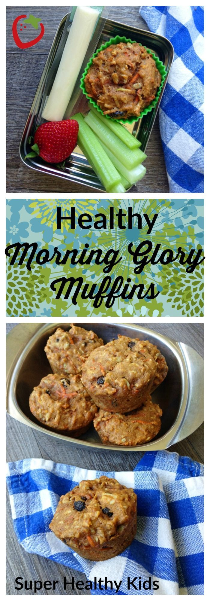 We gave classic Morning Glory Muffins a makeover to include more whole grains, less sugar, and all the fruits, veggies, and nuts that make the original famous.