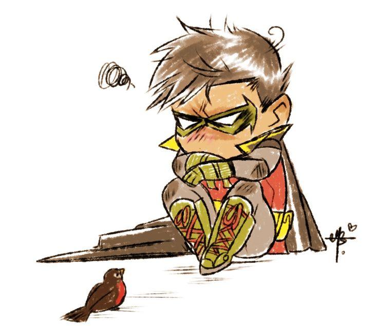 Robin superhero drawing