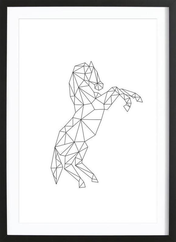 Geometric Horse en Tirage d'art premium encadré