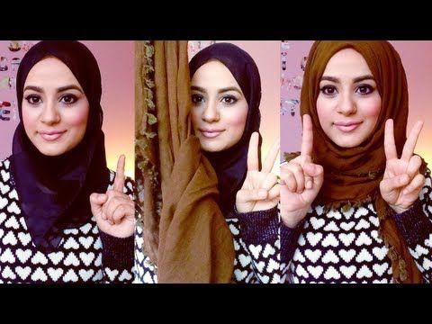 Hijab Tutorial : Square Scarf! - YouTube
