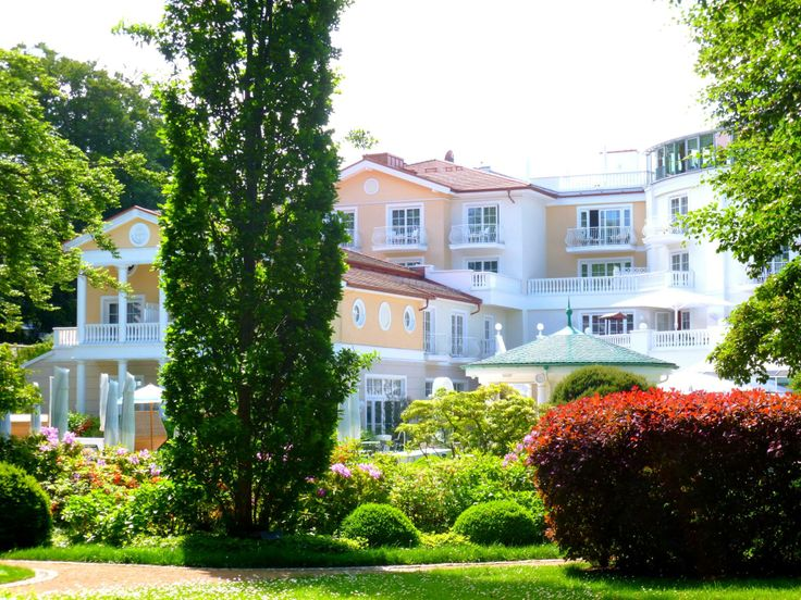 View from the garden of the luxury hotel Heringsdorf