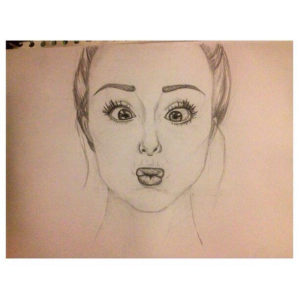 Tried drawing myself