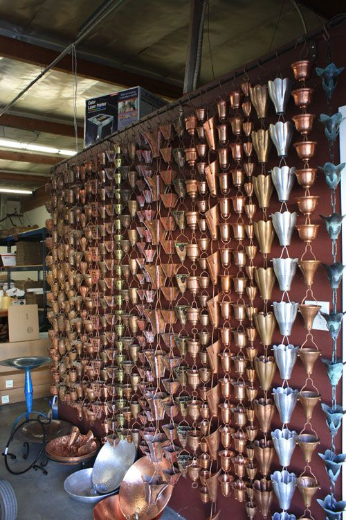 Copper Rain Chains Studio City| Buy Online - Rain Gutter Specialists