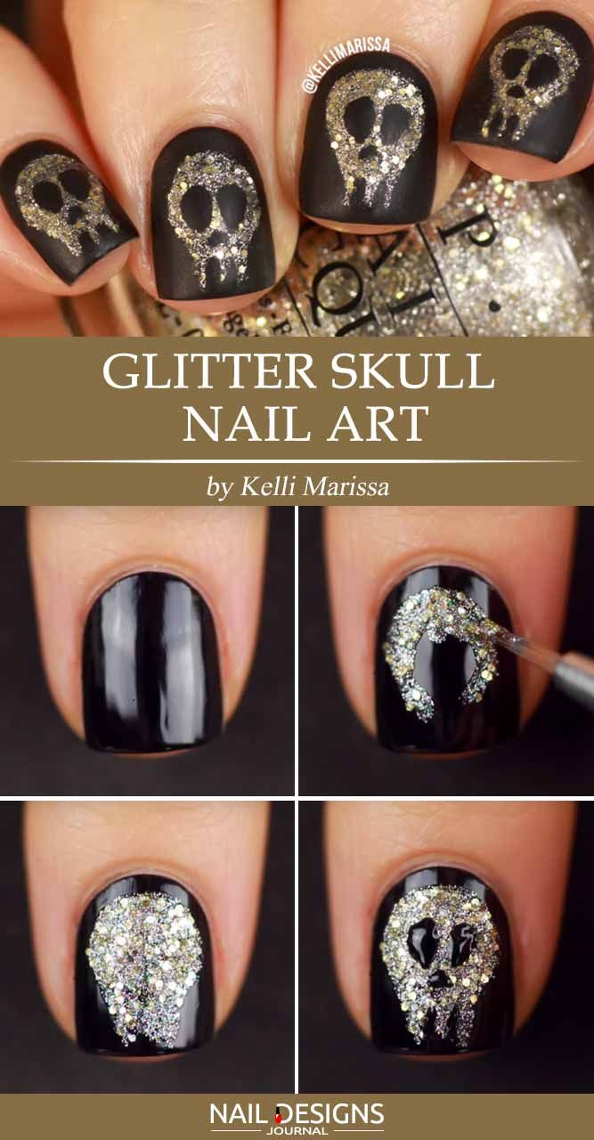 Creative But Easy Halloween Nails Designs You Can Copy Easy