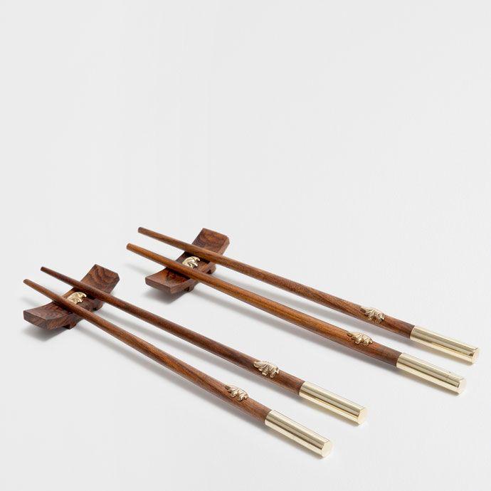 GOLDEN HANDLE WOODEN CHOPSTICKS (SET OF 2) - Cutlery - Tableware | Zara Home United Kingdom