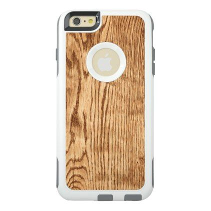 Stylish Rustic Country Faux Wood Texture OtterBox iPhone 6/6s Plus Case - rustic gifts ideas customize personalize