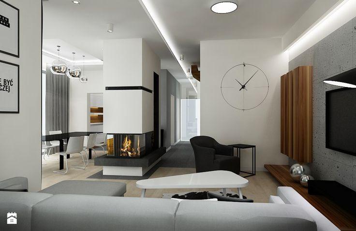 Salon - Styl Minimalistyczny - All Design Agnieszka Lorenc