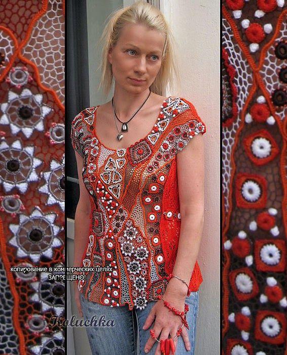 Irish crochet. Кружевные шедевры Лены Статкевич. Bязание в технике ирландского…