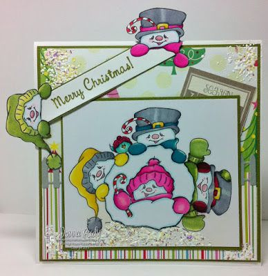 """High Hopes Stamps: Snowman Snowball by Donna using """"Snowman Snowball"""" (TT008) from the newest Joys of the Seasons release and the """"Christmas Script"""" (F051)"""