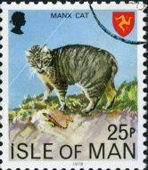 Manx Cat  postage  stamp isle of man  art
