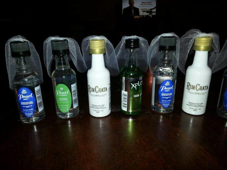 Bridal bottles for Terri's Bachelorette Party (2-1-14)