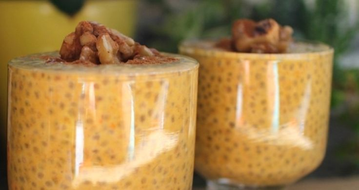 1 cup almond milk 2 tablespoons chia seeds 1-2 teaspoons pumpkin pie spice 1-2 tablespoons pure maple syrup 1/2-1 cup pumpkin puree Optional: 1/2 teaspoon vanilla extract Optional: 1/4 cup toasted walnuts 1. Soak chia seeds in almond milk. 2. Use a fork to give it a quick stir or shake it vigorously! 3. Store...