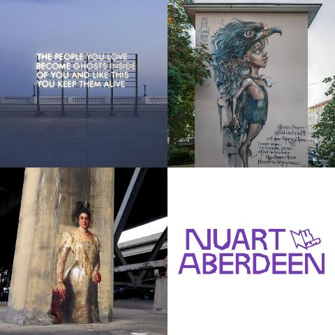 Brought to you by the team behind Stavanger's internationally renowned Nuart Festival, Nuart Aberdeen will see 11 international street artists bring a splash of colour to The Granite City this Easter.     Developed in collaboration with Aberdeen Inspired and Aberdeen City Council, Nuart Aberdeen will provide a platform for local, national and international artists to showcase their work through a series of site-specific murals, installations, interventions, and temporary exhibitions.