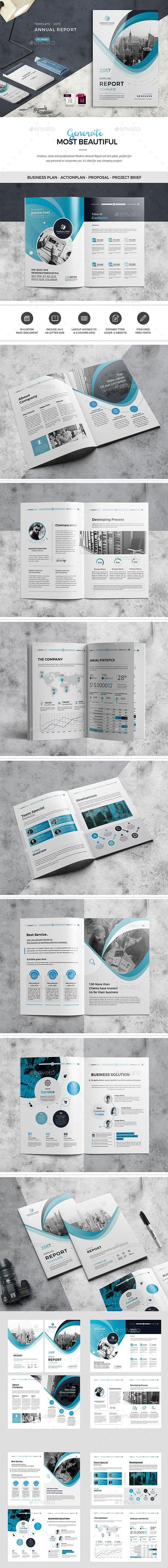 Annual Report Template - Corporate Brochures