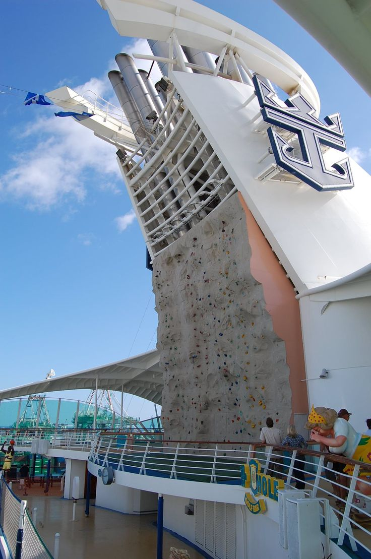 Rock Climbing Wall on Royal Caribbeanu0027s Mariner of