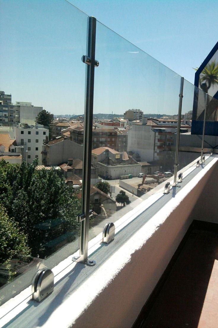 Protecção guarda corpo para Varanda em  vidro temperado