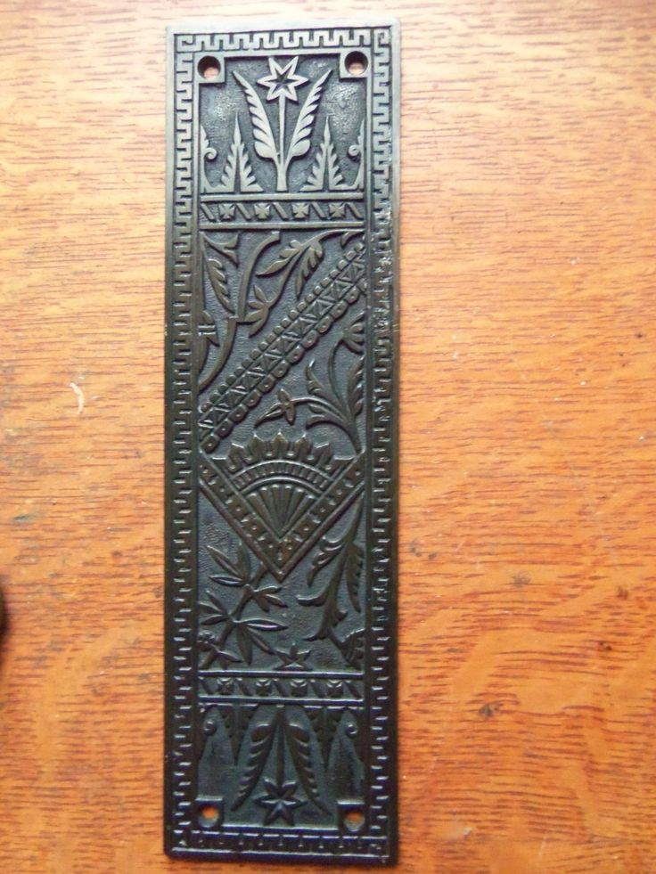 Antique Fancy Iron Door Push Plate Pushplate