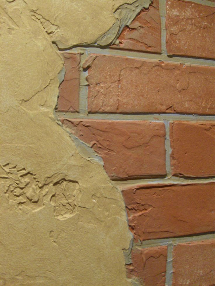 Marble Wall Plaster : Faux brick with plaster and stone walls