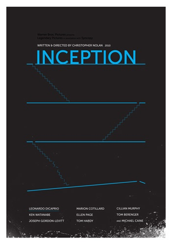 Minimalistic poster inspired by the movie Inception (2010). By: Christopher…