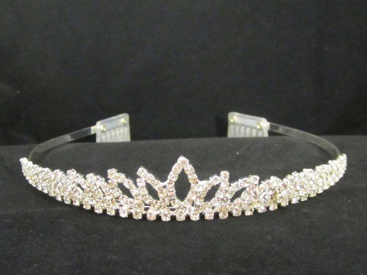 Rhinestone  navette  tiara  -  $11.95  each For  more  info  please  contact - Shoot  for  the  Moon  Jewelry  Designs (850) 230-9983 #bridaltiaras #Tiaras #rhinestones