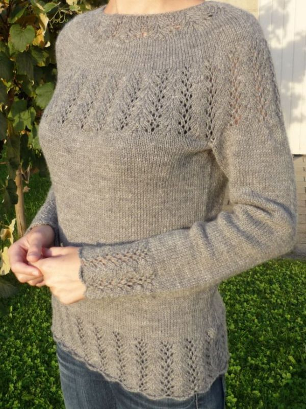 Patterns | Agnes Kutas Knitwear DesignDove is a seamless, bottom-up round-yoke sweater with a delicate lace pattern. It's the technique that interests me in these patterns.
