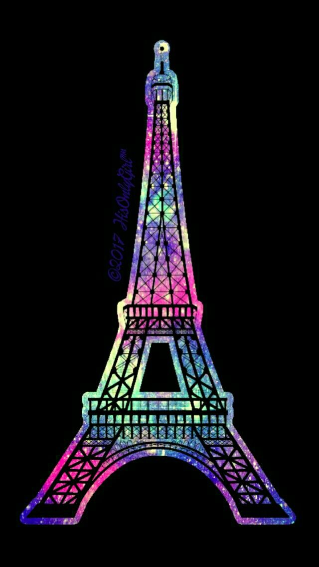 Eiffel Tower iPhone/Android galaxy wallpaper I created for the app CocoPPa.