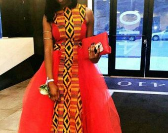 Robe de mariée kente robe Ankara robe de mariage par SleekLife