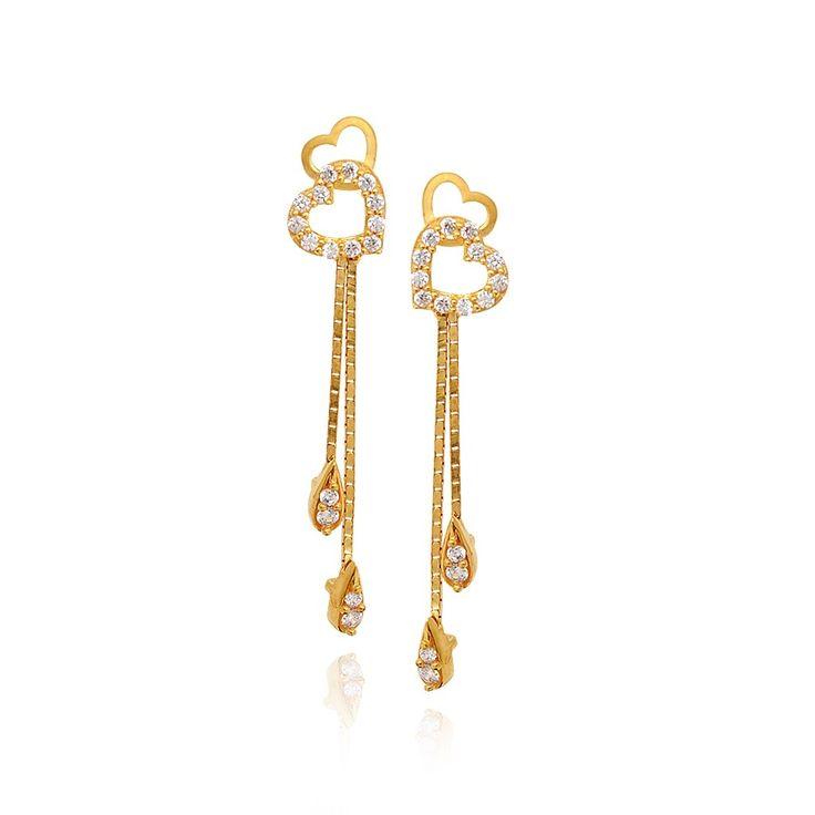 Gold Earrings Designs For Girls