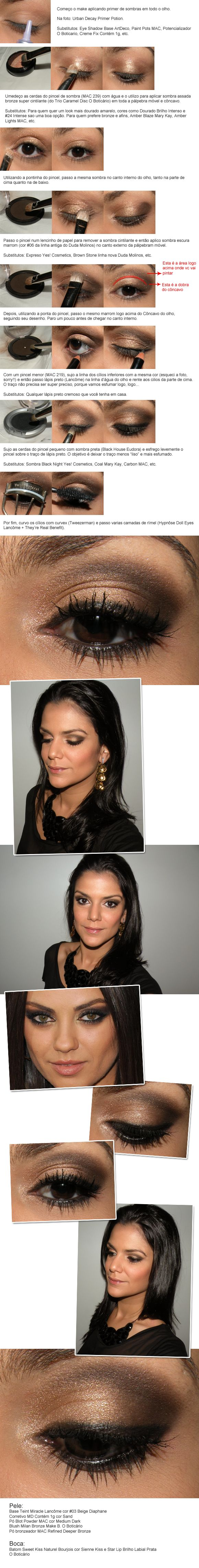 Sparkly brown look (recreating one worn by Mila Kunis) - not in English but detailed pictures