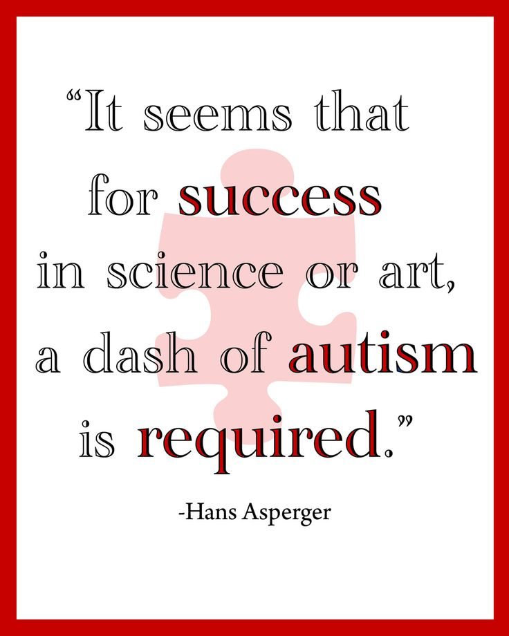 Best 85 autism insights ideas on pinterest aspergers autism it seems for success in science of art a dash if autism is required hans asperger urtaz Gallery