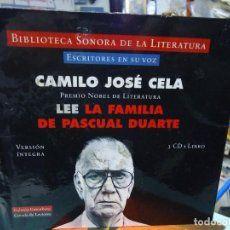 CAMILO JOSE CELA LEE(AUDIO-LIBRO)...LA FAMILIA DE PASCUAL DUARTE...LIBRO + 3 CD´s
