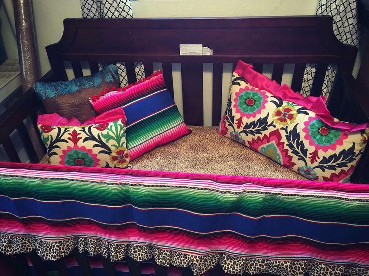 Serape bedding https://www.facebook.com/Dimplesandgrins/