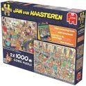 bol.com | Jan van Haasteren Fijne Feestdagen 2in1 - 2x 1000 stukjes,Jumbo