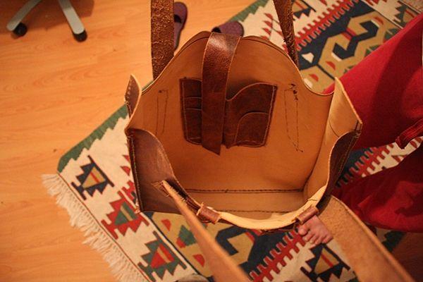 Photo of Dark Brown Handmade Leather Bag- Dark Brown Handmade Leather Bag Dark …