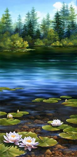 Lilies Pond, Oil painting