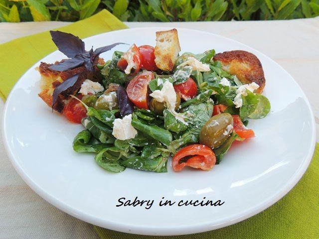 Insalata formaggio e olive - Sabry in cucina