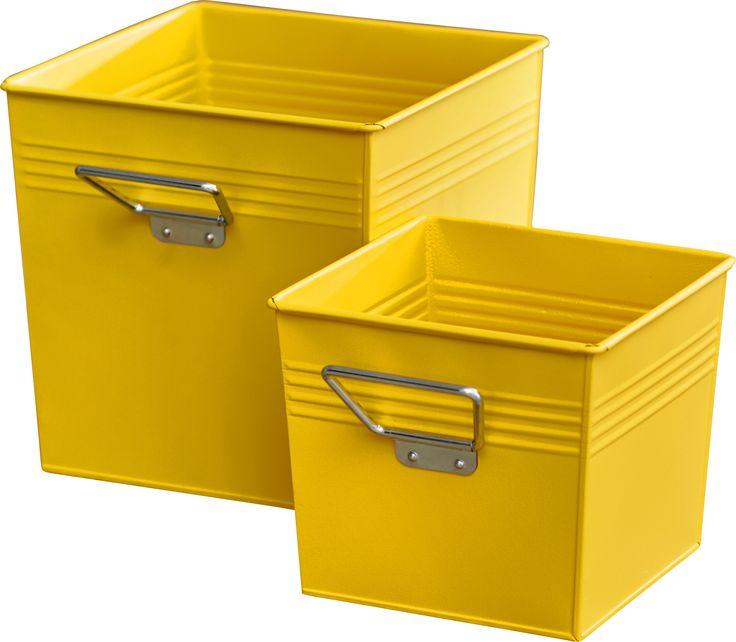 metal storage bin