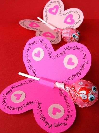 Homemade Valentine's Day Cards for Kids...made with a pencil instead of candy for school?