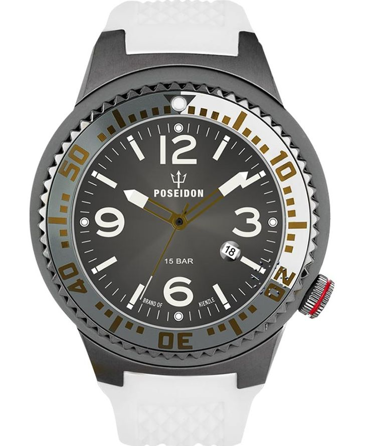 POSEIDON XXL Black Pro White Silicone Strap Τιμή: 139€ http://www.oroloi.gr/product_info.php?products_id=34102