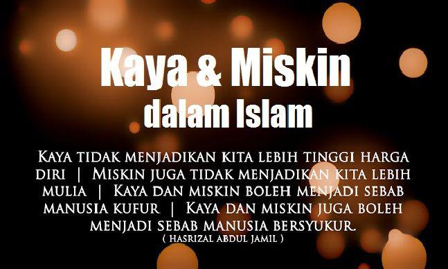 Kaya Dan Miskin Dalam Islam Islam Kaya Dan